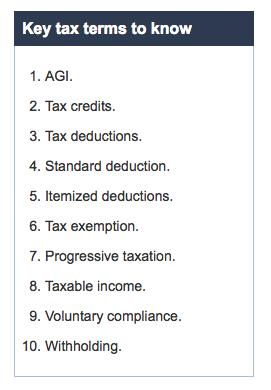 Tax Terms